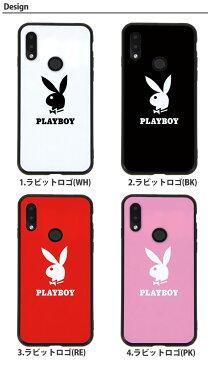 HUAWEI P20 lite HWV32 ケース プレイボーイ 背面ガラス ファーウェイ 楽天モバイル UQモバイル UQ mobile Y!mobile ワイモバイル au スマホケース カバー 携帯ケース かわいい きれい おしゃれ 韓国 playboy ブランド デザイン コラボ