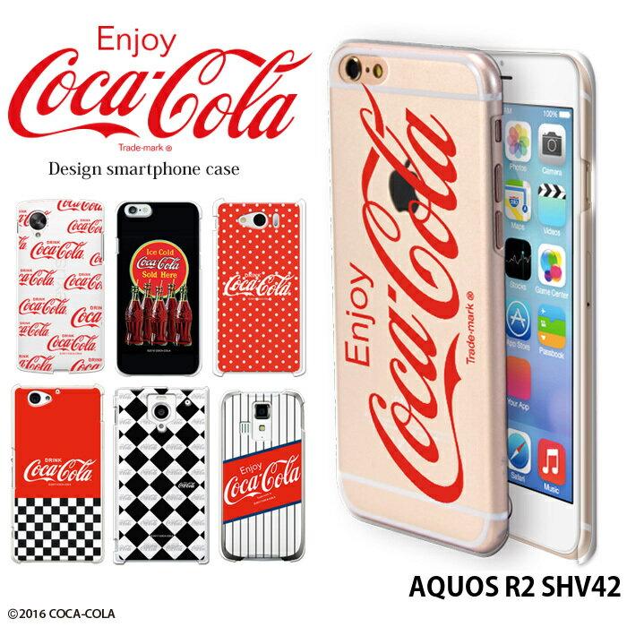 AQUOS R2 SHV42 ケース アクオス au ハード カバー shv42 デザイン コカ コーラ COCA COLA