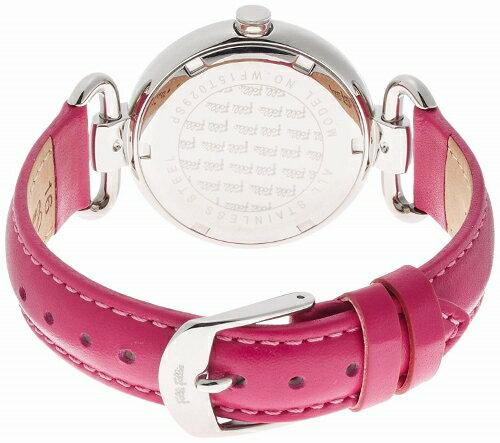 2年保証 FolliFollie フォリフォリ 腕時計 レディース Heart4Heart WF15T029SPW WF15T029SPW-FU 四葉 クローバー シルバー ピンク レザー クォーツ 電池式 【smtb-m】