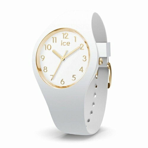 2年保証!40mm アイスウォッチ(ICE-WATCH) 腕時計 ICE GLAM NUMBERS アイスグラム ナンバー 100M防水 Medium ミディアム 015339 メンズ レディース ユニセックス 白 金  ホワイト ゴールド【smtb-m】