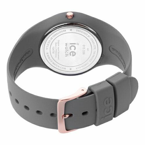 2年保証!40mm アイスウォッチ(ICE-WATCH) 腕時計 ICE GLAM アイスグラム colour カラー 100M防水 Medium ミディアム 015336 メンズ レディース ユニセックス 灰 金  グレー ローズ ゴールド【smtb-m】