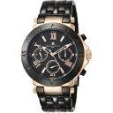 新品 2年保証 送料無料 Salvatore Marra サルバトーレマーラ 腕時計 ブラック ゴールド SM14118 SM14118-PGBK メンズ 男性 ステンレス デイ デイト 24時間計 クォーツ 電池式 日本製