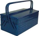 TRUSCO 2段式工具箱 412X220X289 ブルー