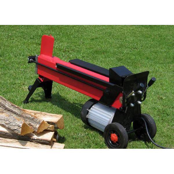 [強力電動でスイスイ薪割り] 7トン(7t) 電動油圧式の小型家庭用 薪割り機 LS-7t 4分割カッター付  (薪割機/まき割り機/ログスプリッター)  薪ストーブ(まきストーブ)や暖炉の薪(ヒノキ・杉ほか)の用意も簡単に  [送料無料/保証付き] P19May15