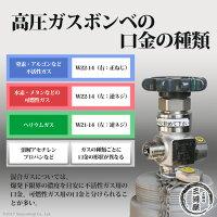 高圧ガスボンベの口金(ネジ)の種類