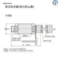 日酸TANAKA逆火防止器ニューストップエース寸法図