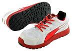 ☆プーマ/PUMA 安全靴 Relay Red Low リレー・レッド・ロー (24.5cm〜28.0cm) 4E NO.64.338.0 男性用ローカット作業靴 JSAA A種認定商品