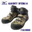 【限定モデル】☆ミズノ/MIZUNOF1GA190650ゴールド×ブラックブレスサーモ内蔵タイプ安全靴オールマイティBF22MLtdミッドカットワーキングメンズ作業靴