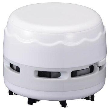送料無料 オーム電機 OHM 卓上そうじ機 電池式 卓上掃除機 卓上クリーナー デスク ミニクリーナー 消しゴムかす 机 テーブル 勉強机 ミニ 掃除機 おしゃれ JIM-C02-W JIM-C02-P