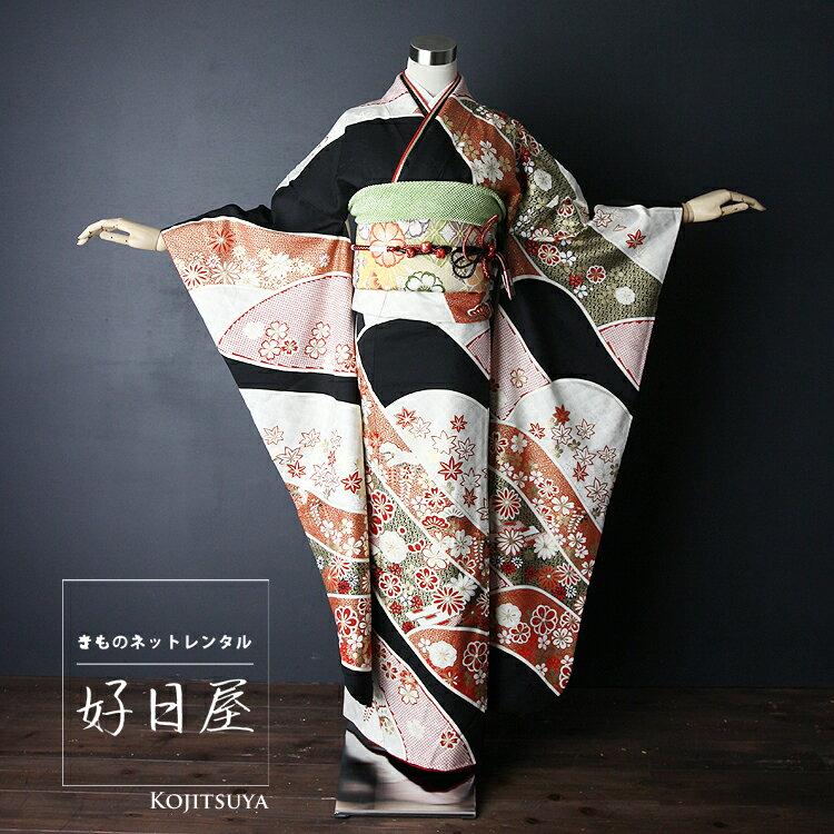振袖 レンタル フルセット 正絹 着物 【レンタル】 結婚式 成人式 身長157-172cm 白 wh-024