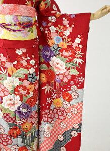 振袖レンタル/結婚式/入学式/卒業式/赤/着物/セット/正絹/フルセット