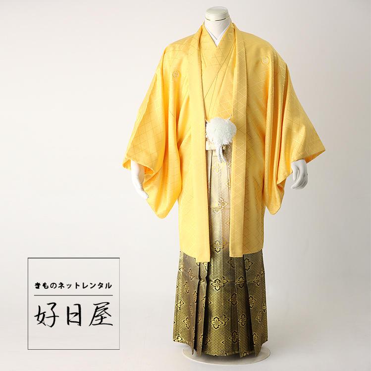 卒業式 袴 レンタル 男 着物 結婚式 着物 成人式 男性 紋付袴 dh-011