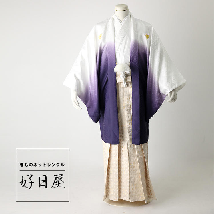卒業式 袴 レンタル 男 着物 結婚式 着物 成人式 男性 紋付袴 dh-024