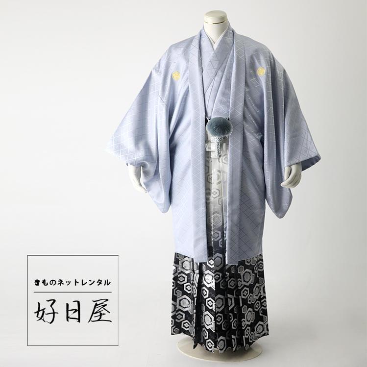 卒業式 袴 レンタル 男 着物 【レンタル】 結婚式 着物 【レンタル】 成人式 男性 紋付袴 dh-025