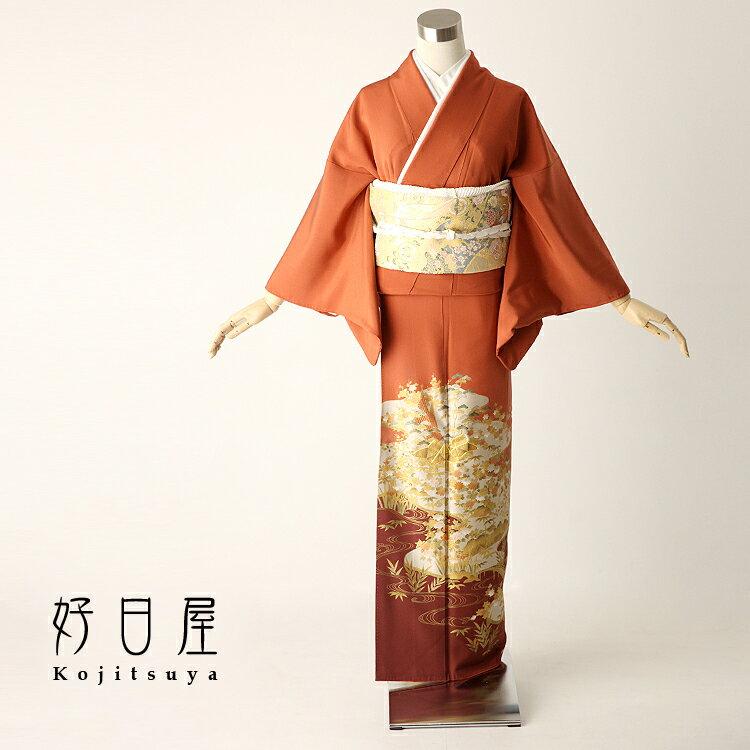 色留袖 レンタル フルセット 正絹 着物 【レンタル】 結婚式 身長145-160cm 三つ紋 it-003