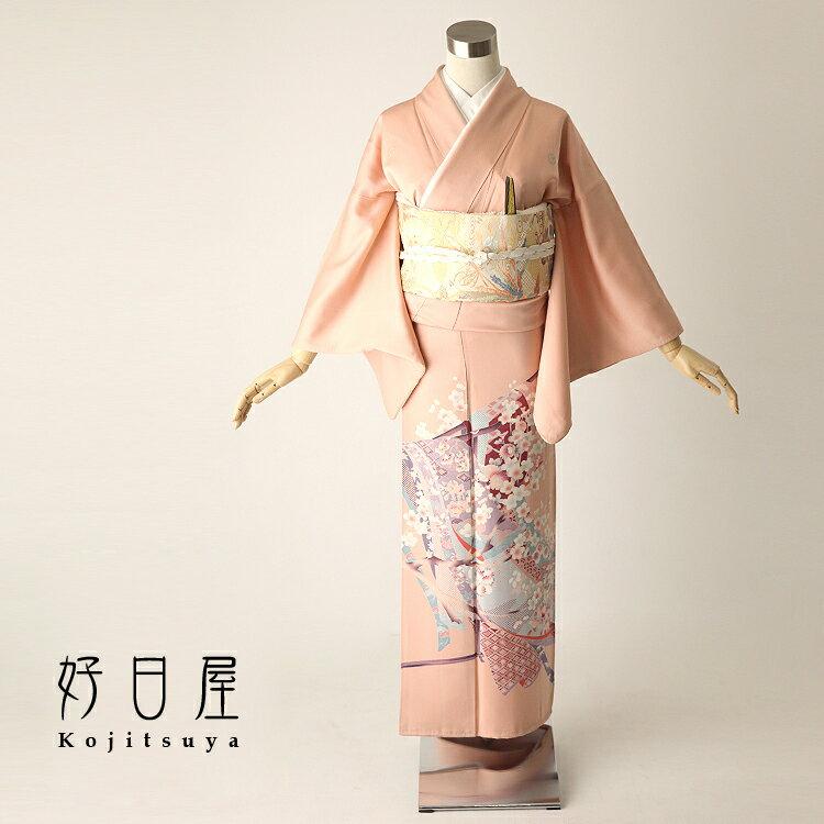 色留袖 レンタル フルセット 正絹 着物 【レンタル】 結婚式 身長144-159cm 五つ紋 it-006