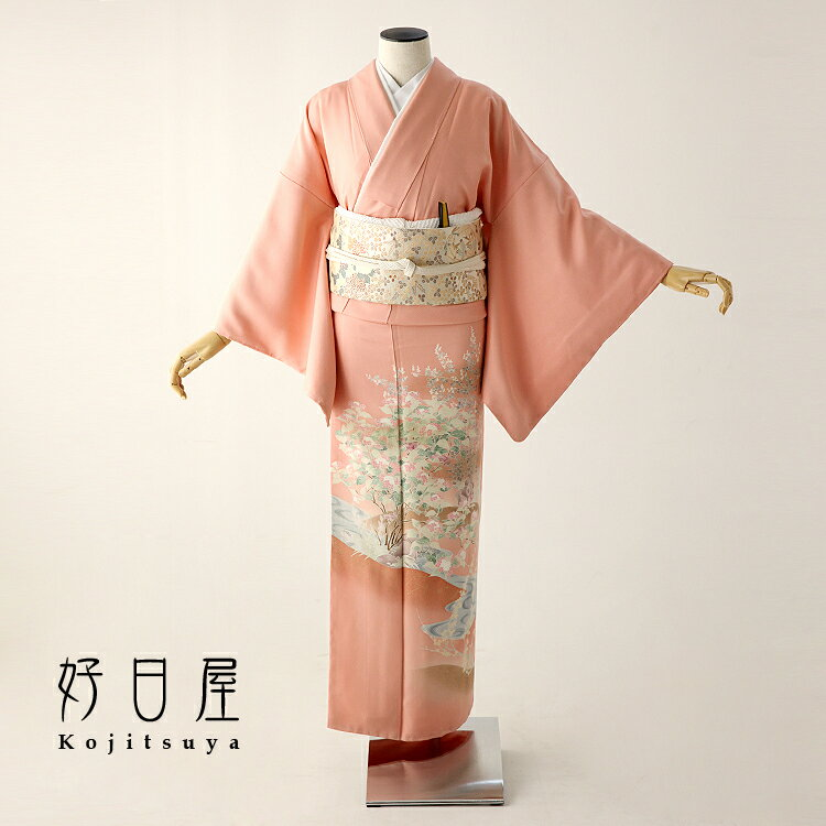 色留袖 レンタル フルセット 正絹 着物 結婚式 身長153-170cm 三つ紋 it-048
