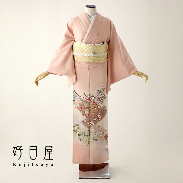 色留袖 レンタル フルセット 正絹 着物 結婚式 身長153-170cm 三つ紋 it-049