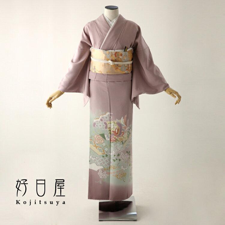 色留袖 レンタル フルセット 正絹 着物 結婚式 身長153-170cm 三つ紋 it-051