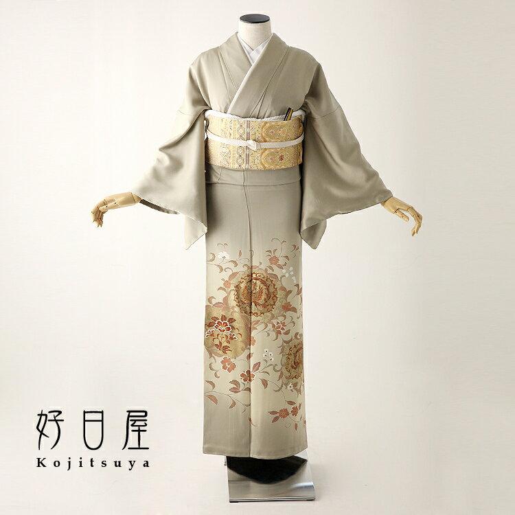 色留袖 レンタル フルセット 正絹 着物 結婚式 身長153-170cm 三つ紋 it-053