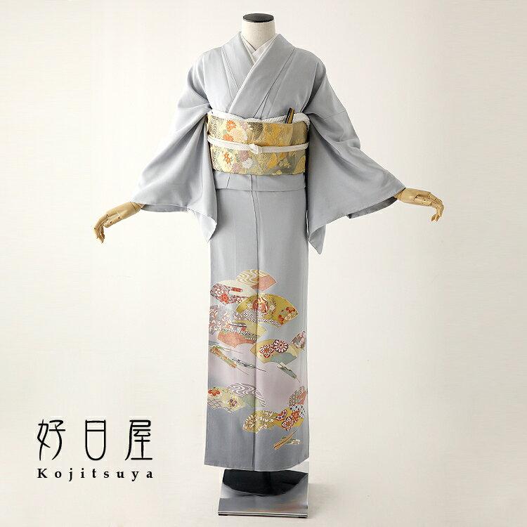 色留袖 レンタル フルセット 正絹 着物 結婚式 身長153-170cm 三つ紋 it-054