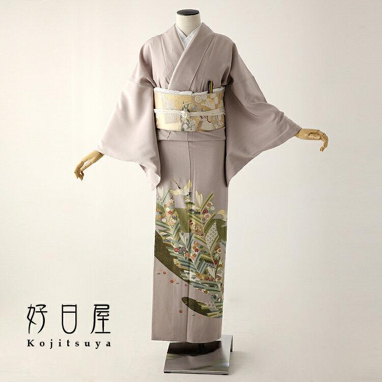 色留袖 レンタル フルセット 正絹 着物 結婚式 身長153-170cm 三つ紋 it-055