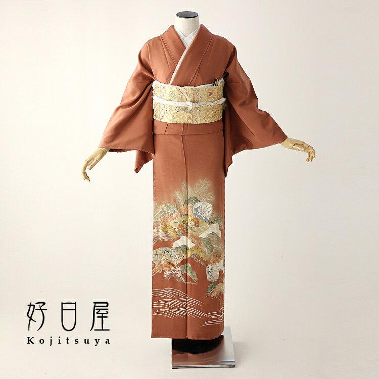 色留袖 レンタル フルセット 正絹 着物 結婚式 身長153-170cm 三つ紋 it-057