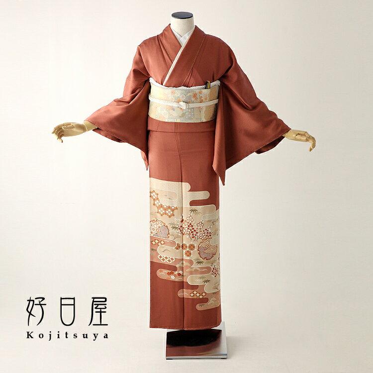 色留袖 レンタル フルセット 正絹 着物 結婚式 身長153-170cm 三つ紋 it-060