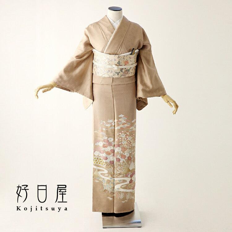 色留袖 レンタル フルセット 正絹 着物 結婚式 身長153-170cm 三つ紋 it-062