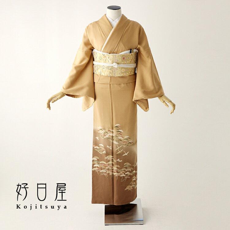 色留袖 レンタル フルセット 正絹 着物 結婚式 身長153-170cm 三つ紋 it-064