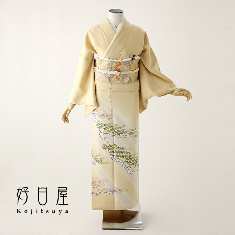 色留袖 レンタル フルセット 正絹 着物 結婚式 身長152-167cm 三つ紋 it-073