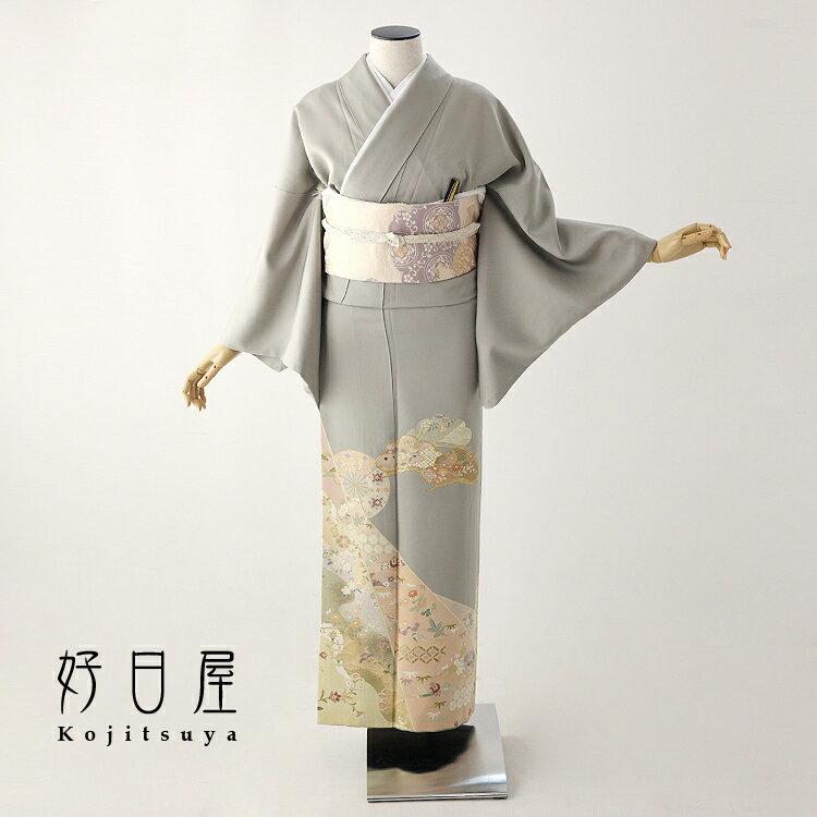 色留袖 レンタル フルセット 正絹 着物 結婚式 身長150-165cm 三つ紋 it-074