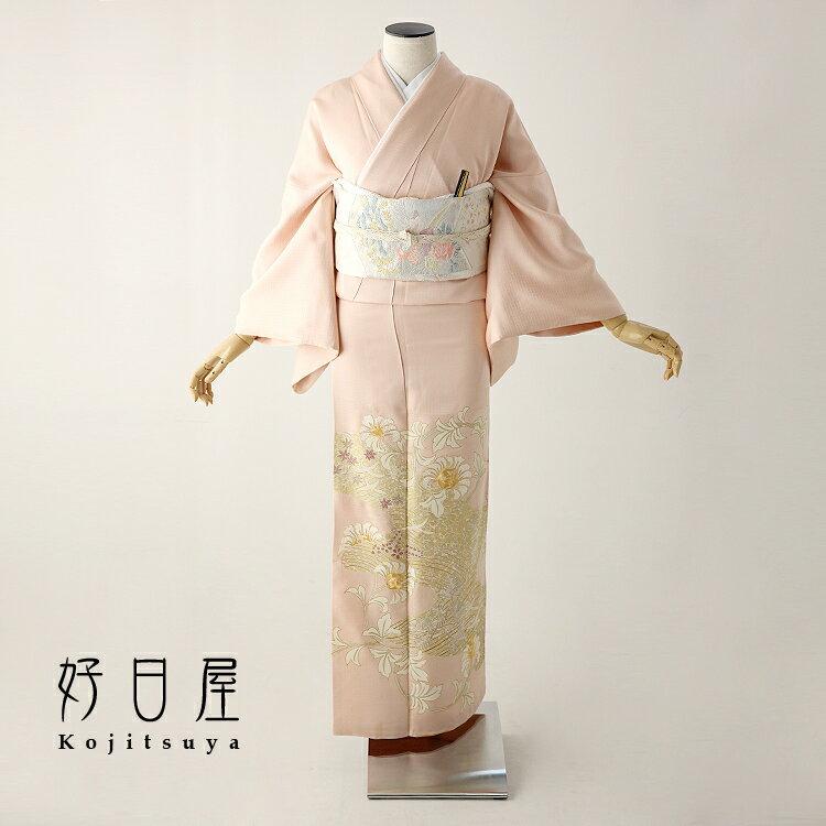 色留袖 レンタル フルセット 正絹 着物 結婚式 身長151-166cm 三つ紋 it-075