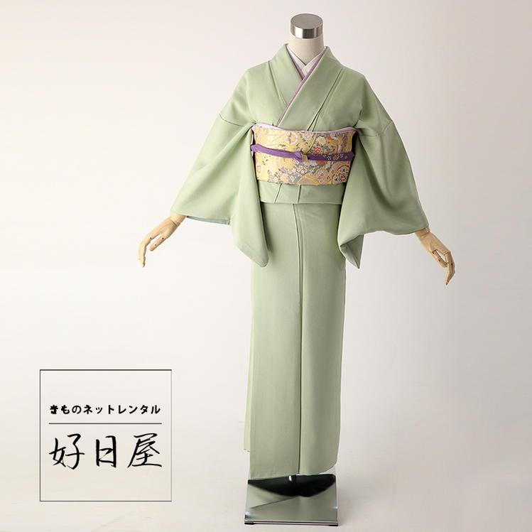 色無地 レンタル フルセット 正絹 身長144-159cm im-021