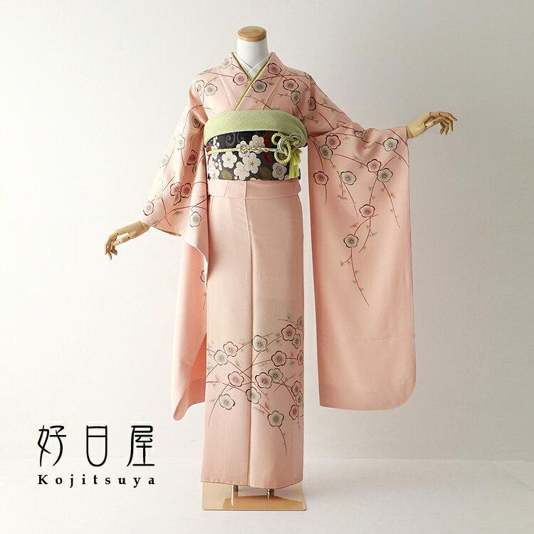 振袖 レンタル フルセット 正絹 着物 【レンタル】 結婚式 成人式 身長150-165cm ピンク pi-021