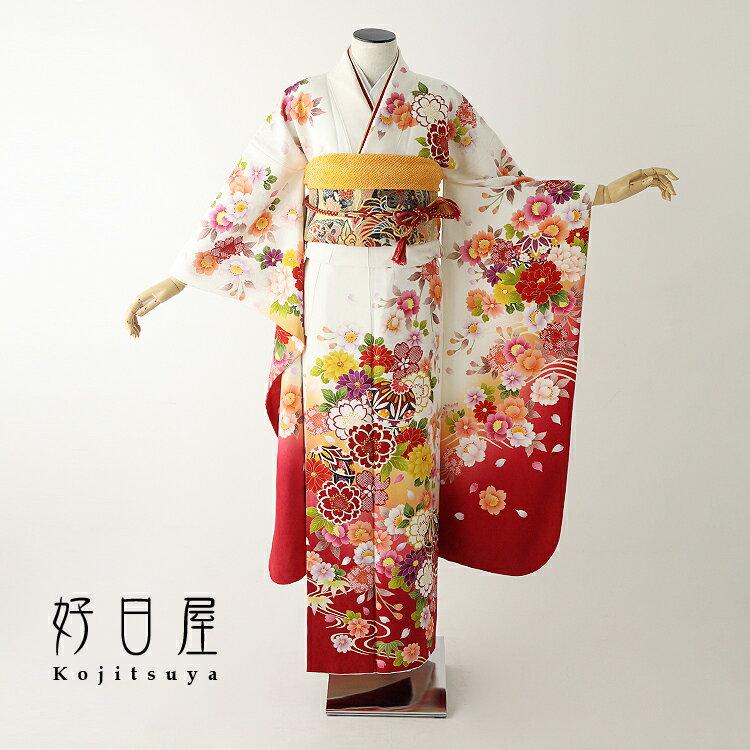 振袖 レンタル フルセット 正絹 着物 【レンタル】 結婚式 成人式 身長147-162cm 白 wh-046