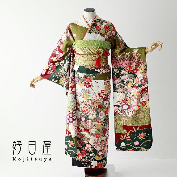 振袖 レンタル フルセット 正絹 着物 【レンタル】 結婚式 成人式 身長149-164cm 白 wh-058