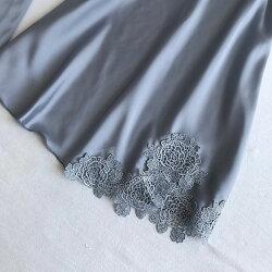 花刺繍ルームウェア4点セットさらさらサテンベビードールガウンセットセクシーレディースナイトウェア