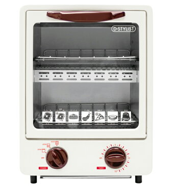 オーブントースター 縦型 コンパクト設計 2段構造 【送料無料(北海道、沖縄、離島は適用外)】