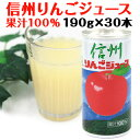 【送料込】信州りんごジュース 195g×30本