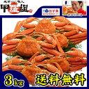 足の身はもちろん、カニ味噌までギッシリ!【徳用】ボイルずわい蟹/姿3kg(4匹もしくは5匹入り※...