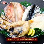 実店舗でも大人気!のどぐろ入り高級干物セット5種(のどぐろ、縞ほっけ、とろさば、真いか、はたはた)化粧箱入り【ひもの】【一夜干し】【魚】【送料無料】