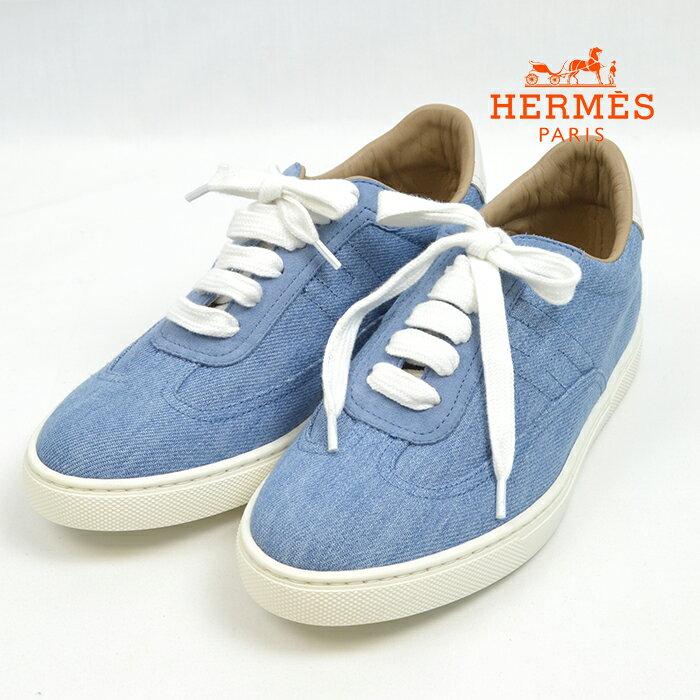 HERMES quicker sneaker HERMES 37 23.5cm a-1911-