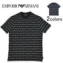 EMPORIO ARMANI エンポリオアルマーニ 3G1T69 1J19Z 0004 0924 ブラック 黒 ネイビー 紺 Tシャツ メンズ 男性用 クルーネック 半袖シャツ 柄シャツ ロゴTシャツ S M L XL XXL サイズ c-1906-