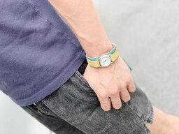 ▲WPILES キラキラポップ☆水色×黄色「Wパイルズ 腕時計」タラリン♪コード