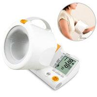 ★送料無料★デジタル自動血圧計HEM-1000【RCP】腕を通すだけで正しい測定姿勢をつくる「可動式腕帯」