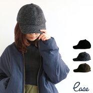 【送料無料】ease無地キャップコイルウール帽子