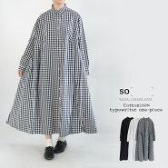 【送料無料】タイプライターワイドタックシャツワンピースロングスリーブSO[]エスオー