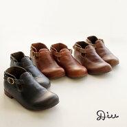 【最大30%OFFクーポン対象】【送料無料】パンチングベルトデザインオブリークシューズDiuディウふかふかインソールステッチレスレザーレディース本革本皮革靴靴87-320D2606