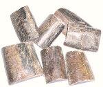 水牛の角の皮付き端材、深皮型。50グラム(掲載の写真、50グラムで1000円)。